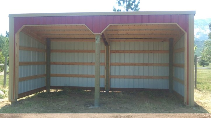 Pole Barn Run-In Shed - Beehive Buildings - 28'x10'x8'