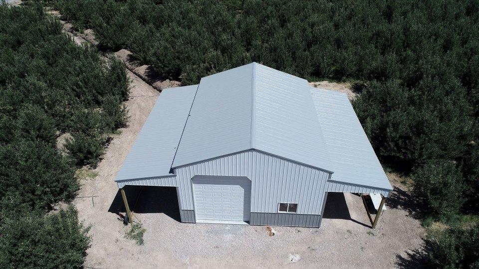 Pole Barn Garage - Beehive Buildings - 30'x40'14'