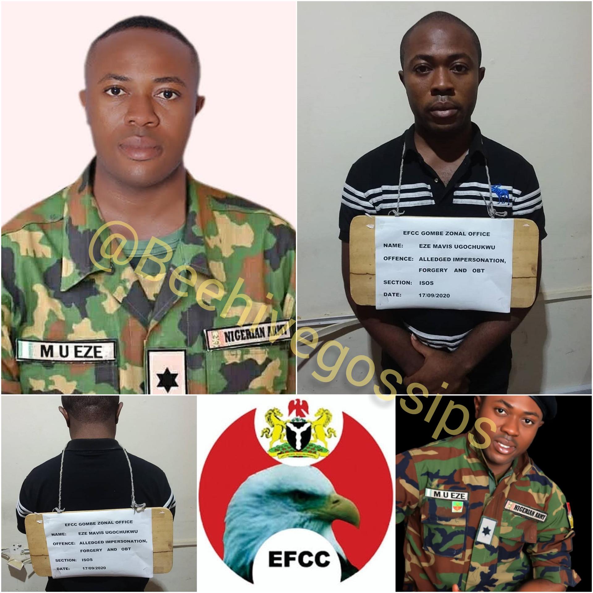 Fake Army Lieutenant in EFCC Net for Multiple Fraud in Bauchi