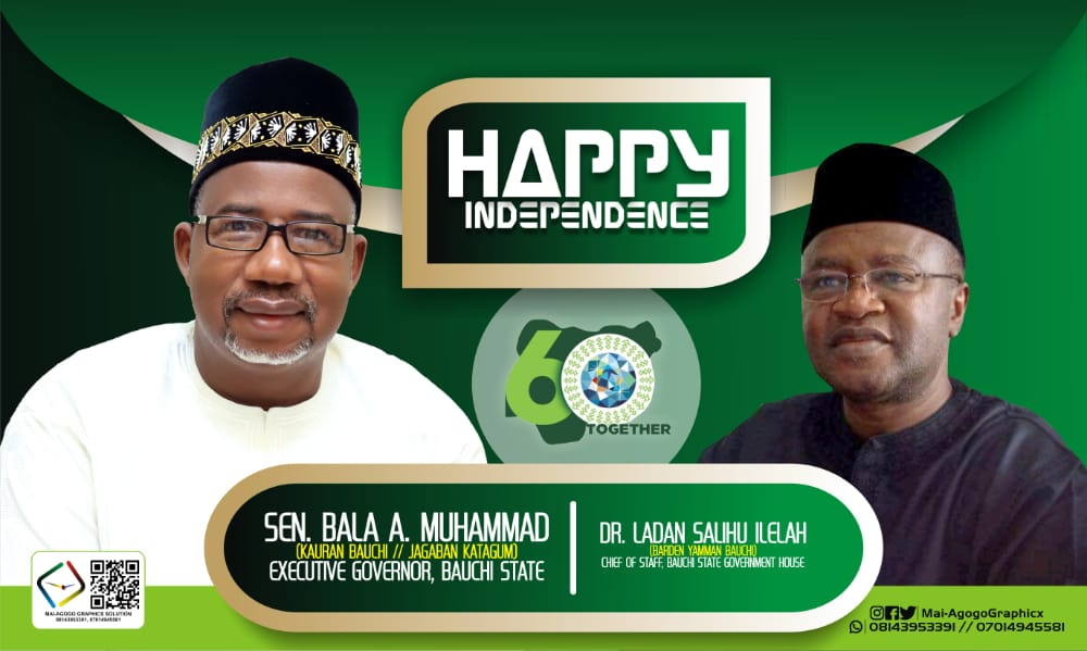 NIGERIA AT 60: Dr. Ladan Salihu Felicitates with Governor Bala