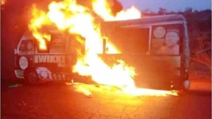 VIDEO: Wikki Tourist FC away trips gone blaze as bus catches fire