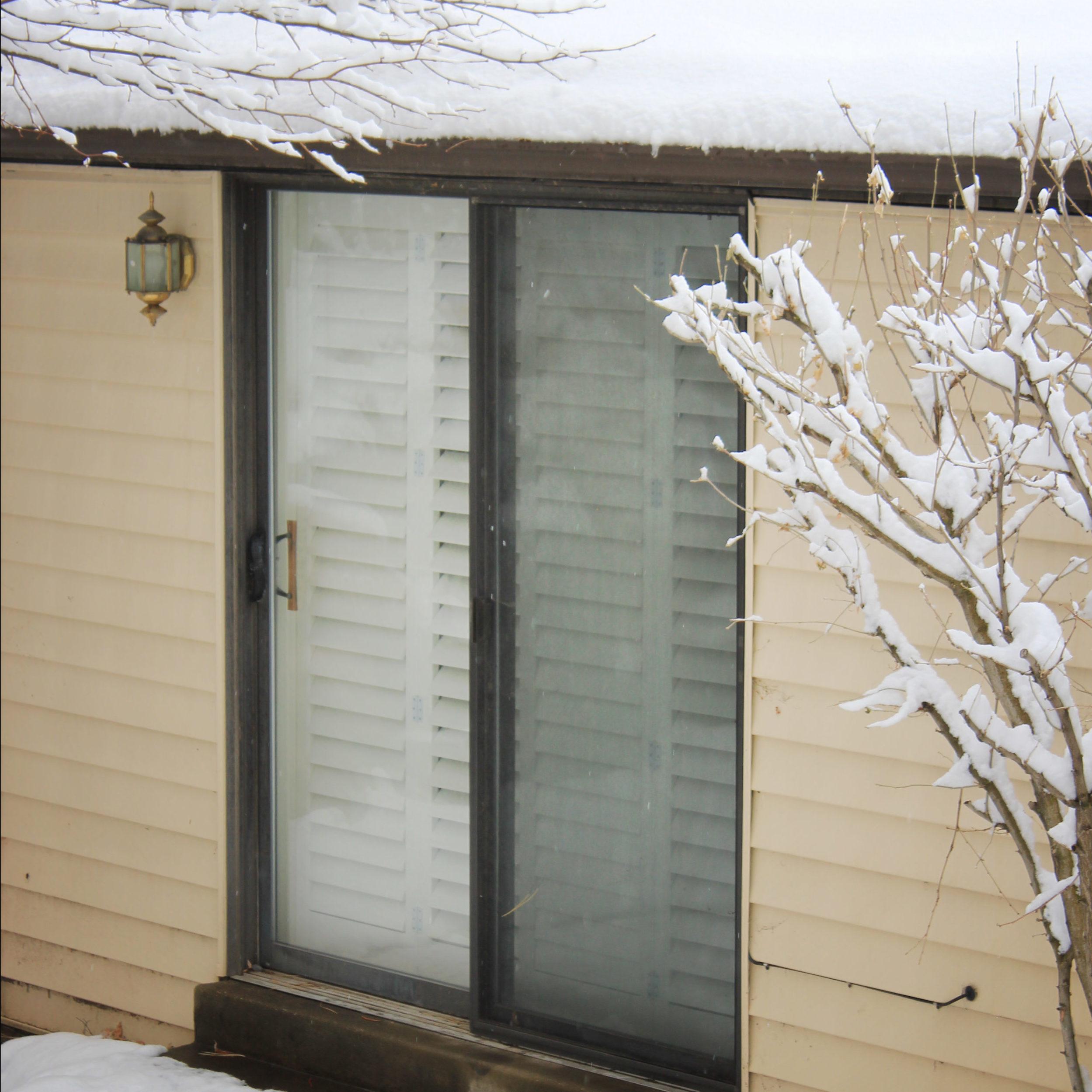 Exterior View Of Sliding Door Shutters Beehive Shutters