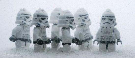 Lego Star Wars enneigés