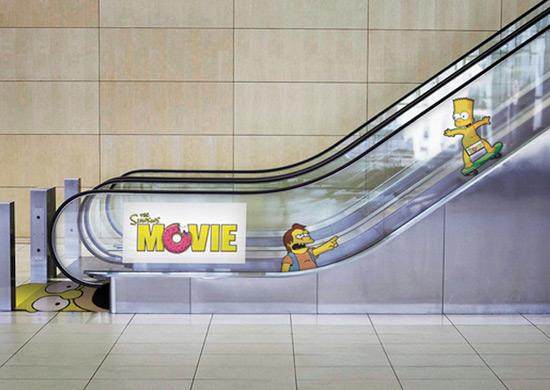 Escalator Simpson Movie