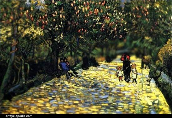 Van Gogh Tilt Shift Parc à Arles