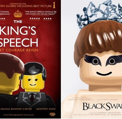 Affiches des films nominés aux Oscars façon LEGO
