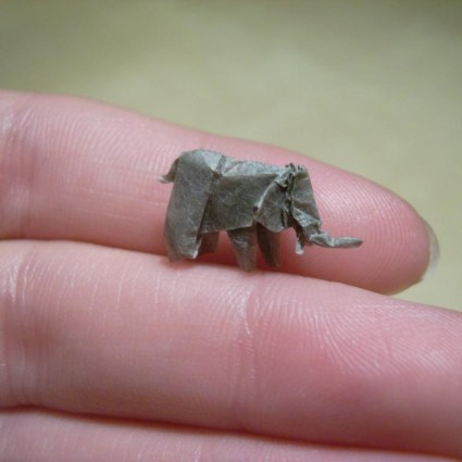 Des origamis incroyablement petits