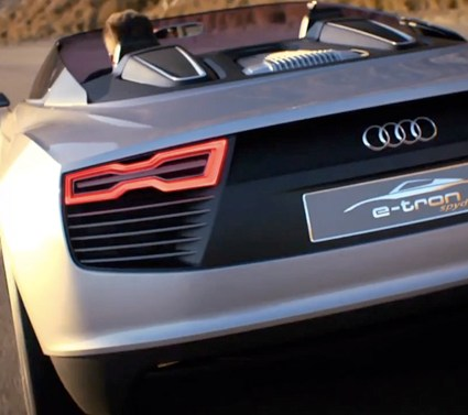 The Audi e-tron Spyder in Malibu, California