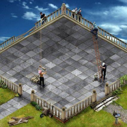 The Terrace, un effet d'optique en LEGO