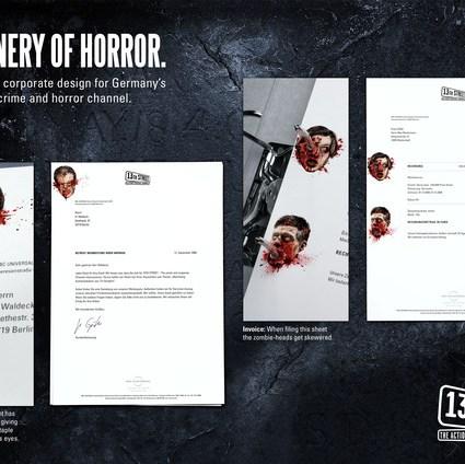 13th Street Stationery of Horror – Jung von Matt