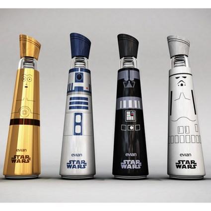 Bouteilles d'Evian Star Wars