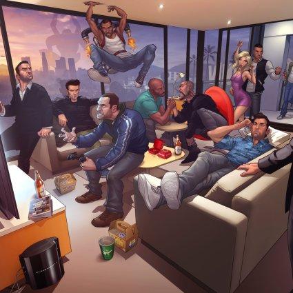 Digital Art / Patrick Brown – Grand Theft Auto