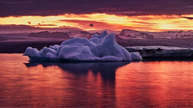 Iceberg in the night