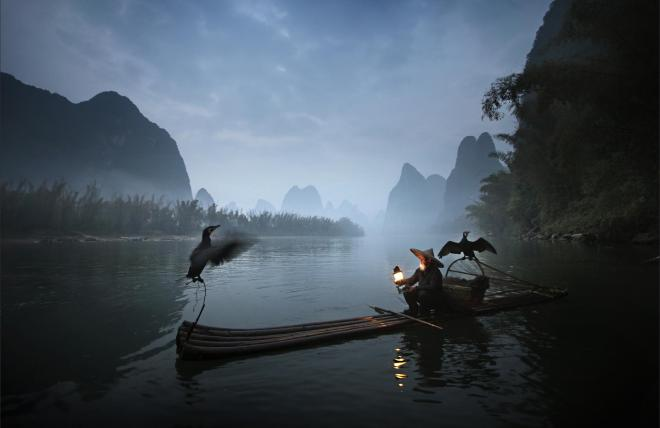 The wizard in Guilin, China
