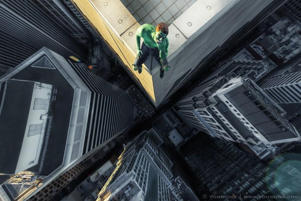 Hulk - Superheroes on Skyscrapers by Von Wong