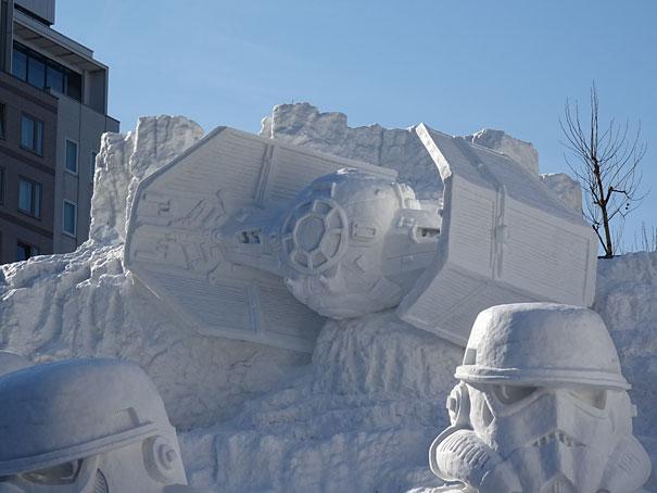 star wars geant neige sapporo festival 3219351
