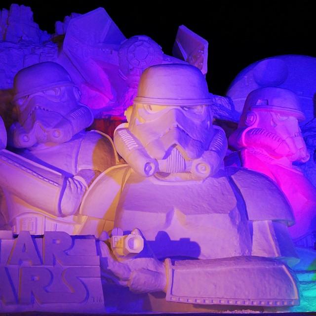 star wars geant neige sapporo festival 6713076
