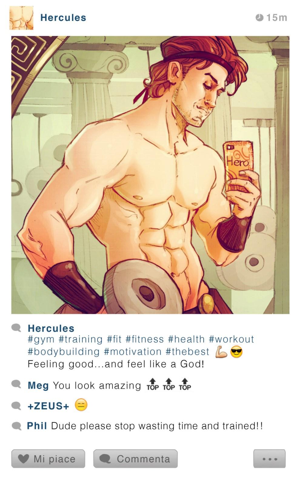 Hercules - Disney Selfie - Simona Bonafini