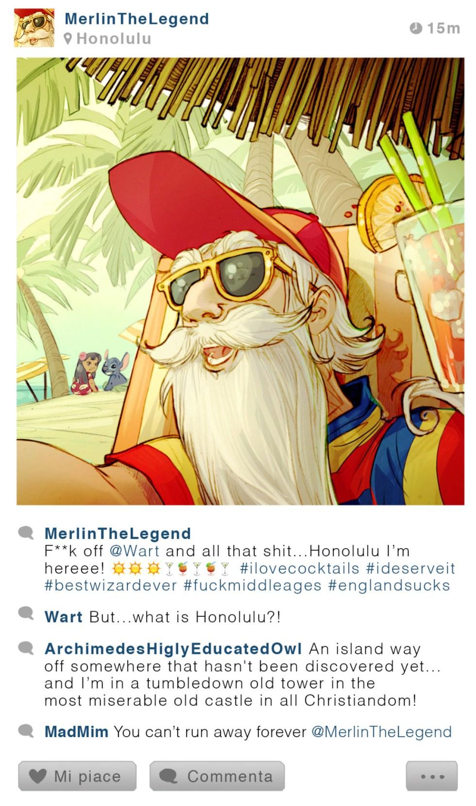Merlin - Merlin l'enchanteur - Disney Selfie - Simona Bonafini