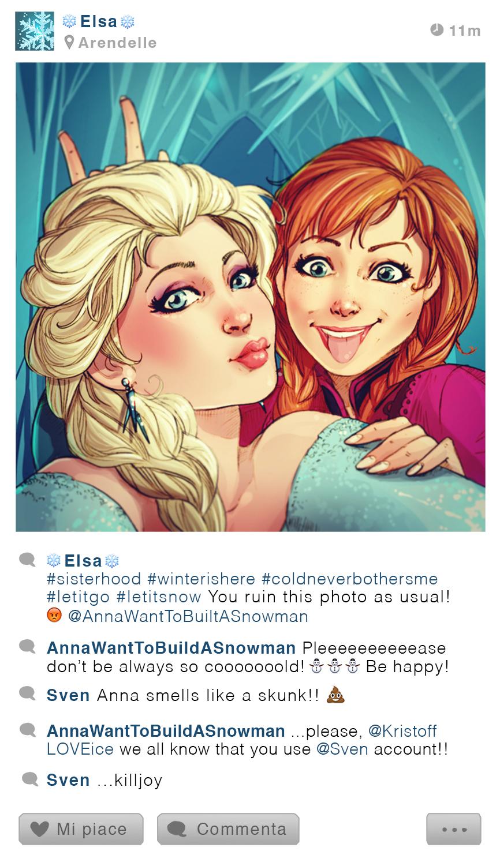 Elsa et Anna - Frozen - Disney Selfie - Simona Bonafini