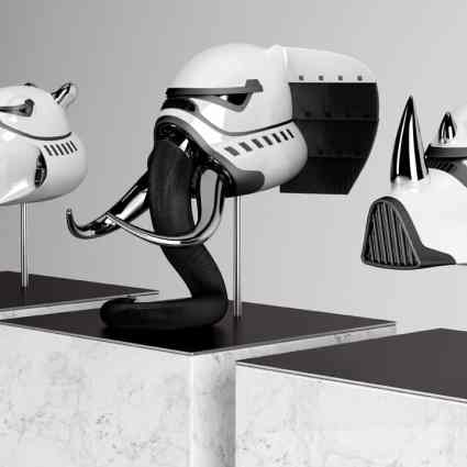 Blank William transforme des casques de stromtroopers en animaux