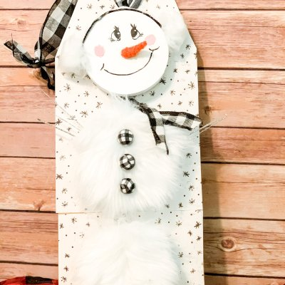 Diy Dollar Tree Snowman Tag