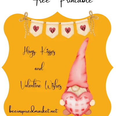 Hugs and Kisses Free Printable