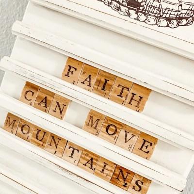 Diy Scrabble Letter Board