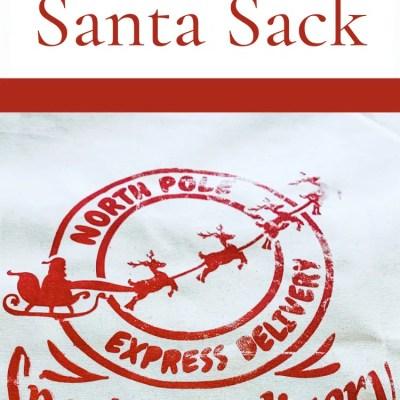 DIY Santa Sack using Screen print