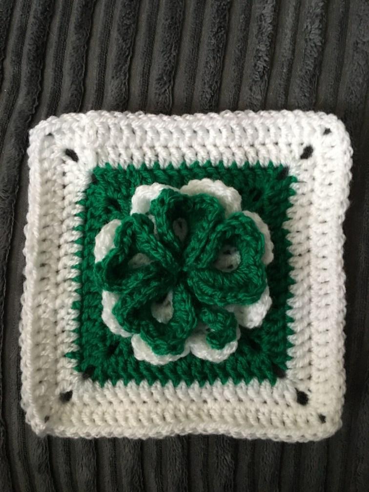 Shamrock Granny Square Crochet - Pattern Link
