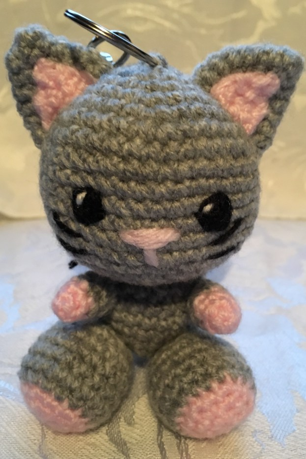 Kiki the Kitten Keyring Pattern - Front