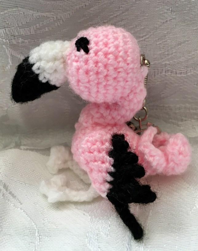 Flossy Flamingo Keyring Pattern