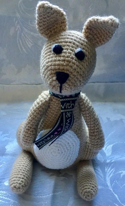 Handmade Crochet Kangaroo - Belly Patch