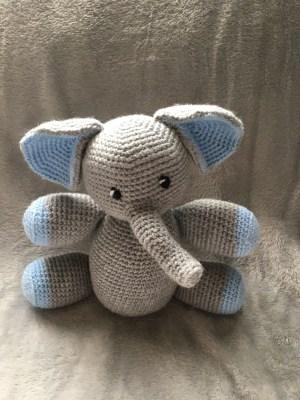 Handmade Crochet Elephant - Blue