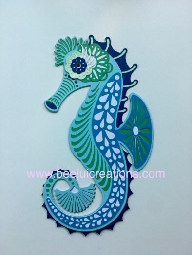 3D Mandala Seahorse - Layered Free Link