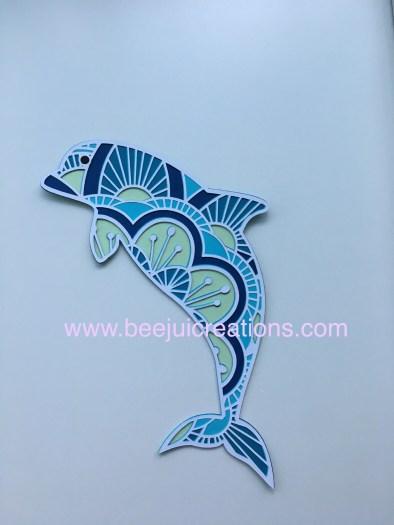 3D Mandala Dolphin
