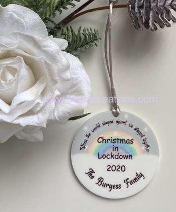 Lockdown Christmas Acrylic Ornament