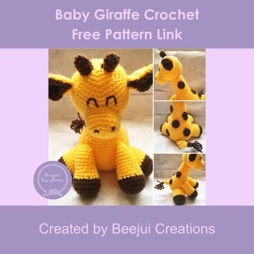 Baby Giraffe Crochet Pattern - Free Pattern Link