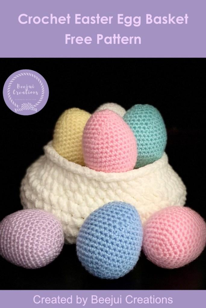 Crochet Easter Egg Basket - Free Pattern