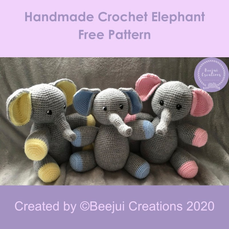 Crochet Elephant Pattern Pin