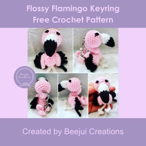 Flossy Flamingo Keyring Pattern - Free Crochet Pattern