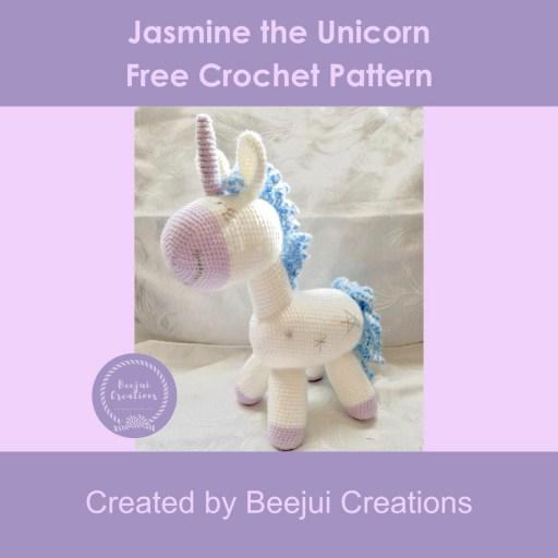 Jasmine the Unicorn Crochet Pattern - Free