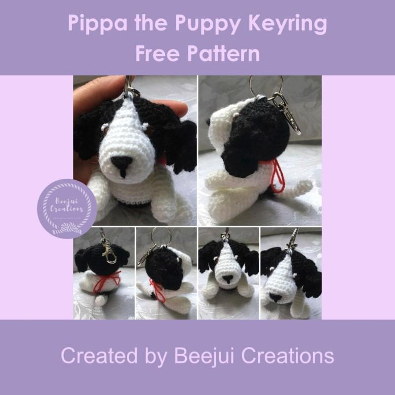 Pippa the Puppy Keyring