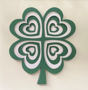 Shamrock Layered Cardstock Project - SVG File