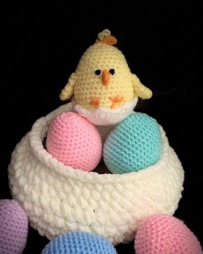 Crochet Easter Baby Chick PDF Pattern