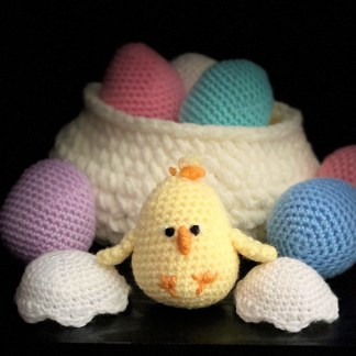 Crochet Easter Baby Chick PDF Pattern