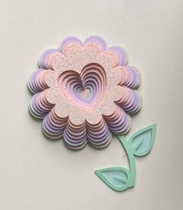 SVG File - 3D Pastel Layered Flower