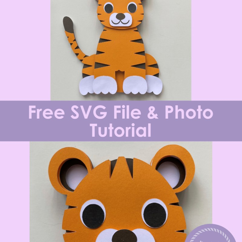 3D Layered Tiger SVG Free File & Tutorial