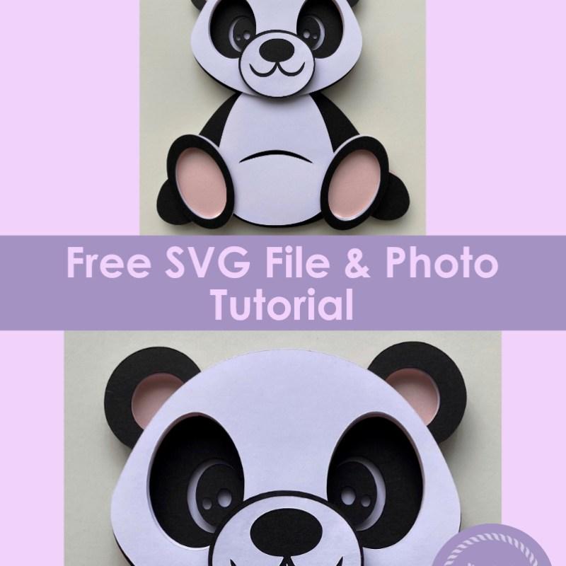 3D Layered Panda SVG - Free File & Tutorial