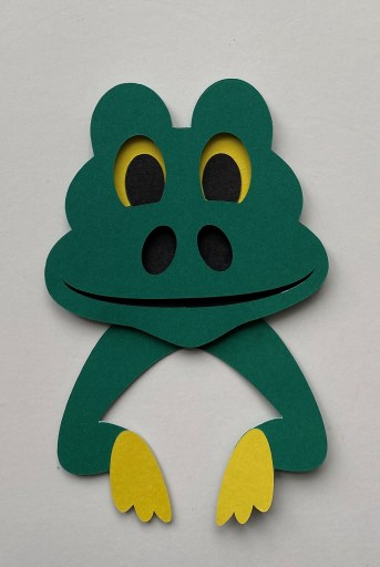 Alligator Green Smiley face piece attached